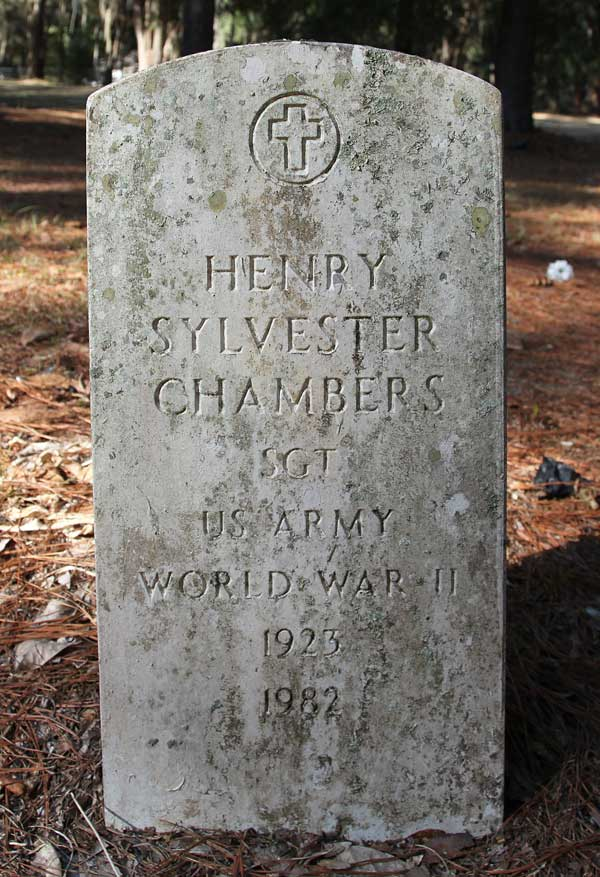 Henry Sylvester Chambers Gravestone Photo