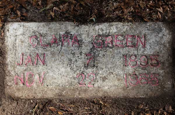 Clara Green Gravestone Photo