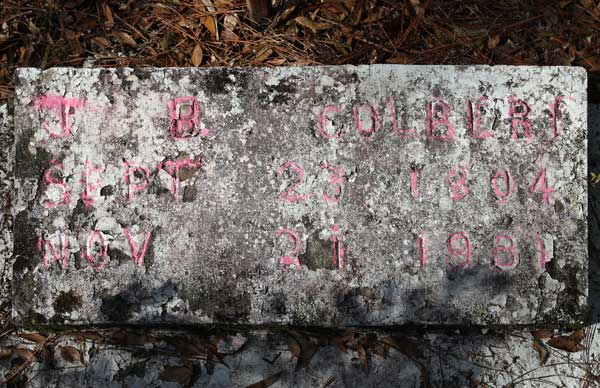 J.B. Colbert Gravestone Photo