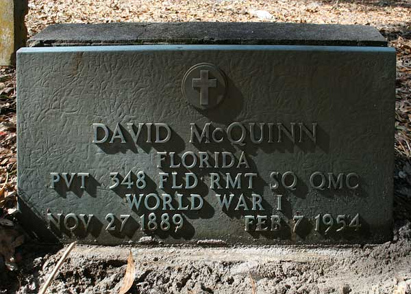 David McQuinn Gravestone Photo