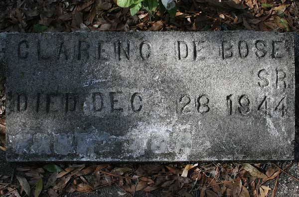 Clarenc DeBose Gravestone Photo
