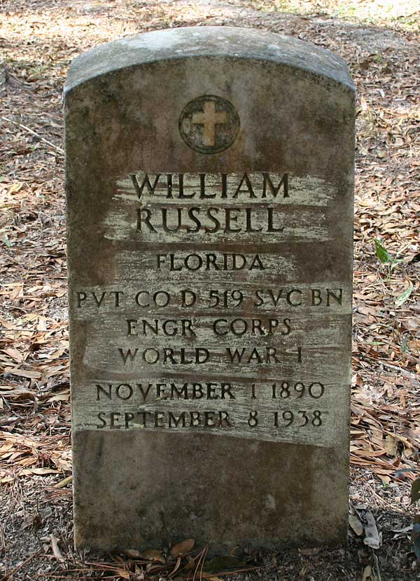 William Russell Gravestone Photo