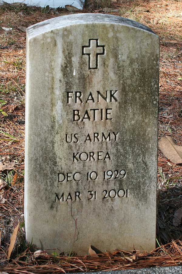 Frank Batie Gravestone Photo