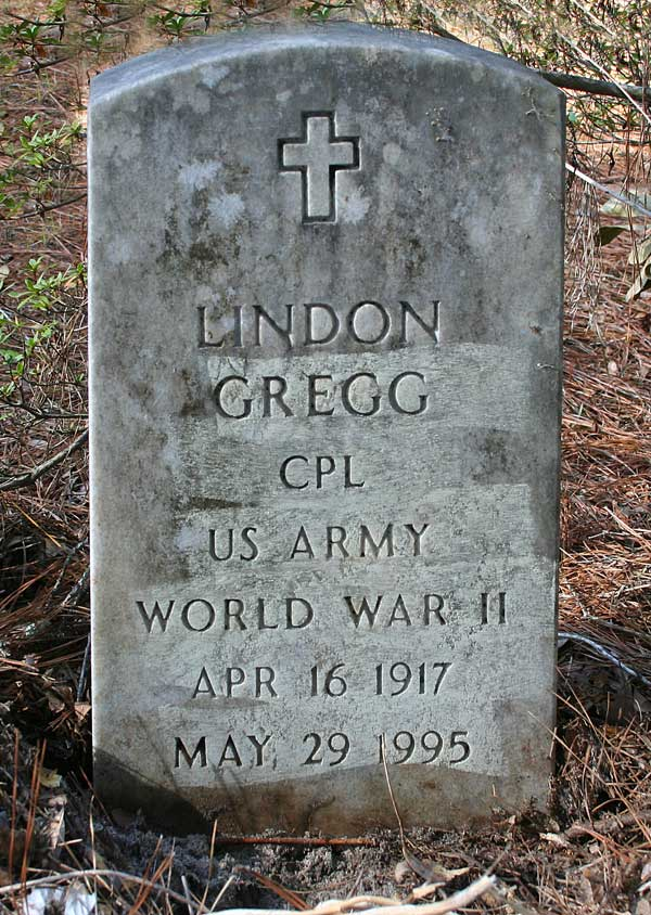 Lindon Gregg Gravestone Photo