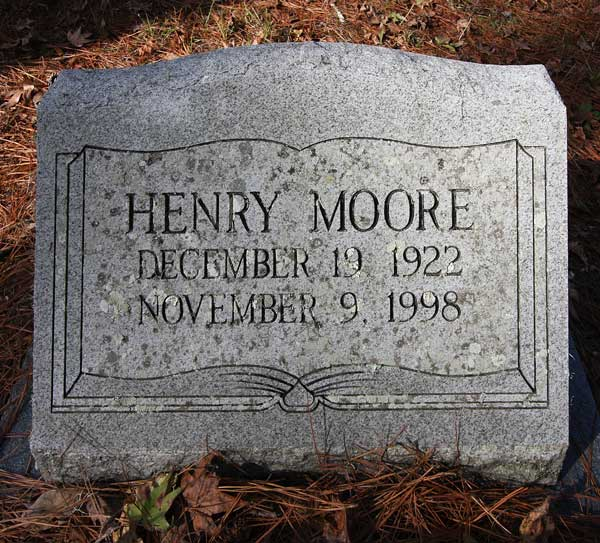 Henry Moore Gravestone Photo