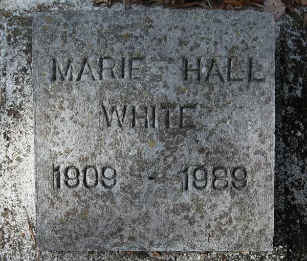 Marie Hall White Gravestone Photo