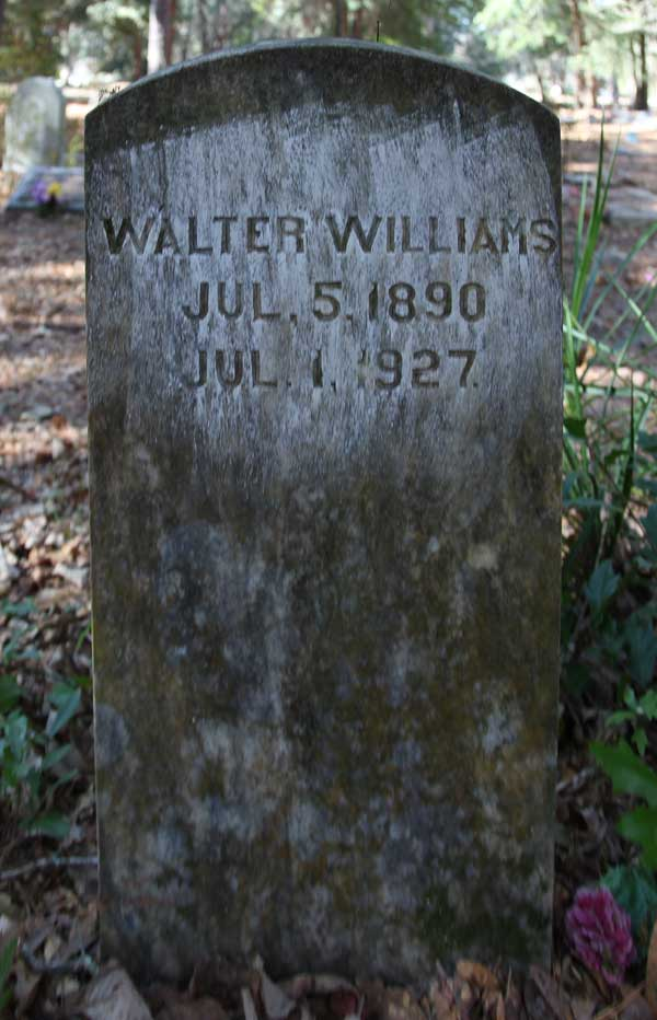 Walter Williams Gravestone Photo