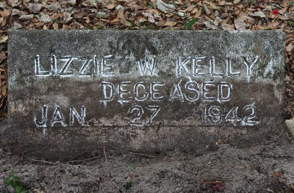 Lizzie W. Kelly Gravestone Photo