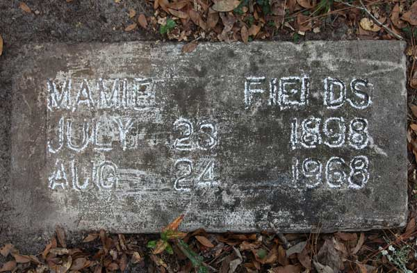 Mamie Fields Gravestone Photo