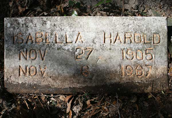 Isabella Harold Gravestone Photo