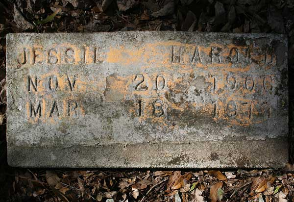 Jessie Harold Gravestone Photo