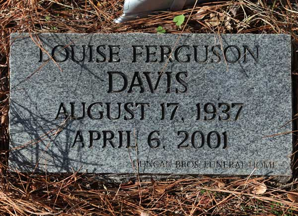 Louise Ferguson Davis Gravestone Photo