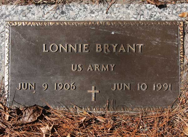 Lonnie Bryant Gravestone Photo