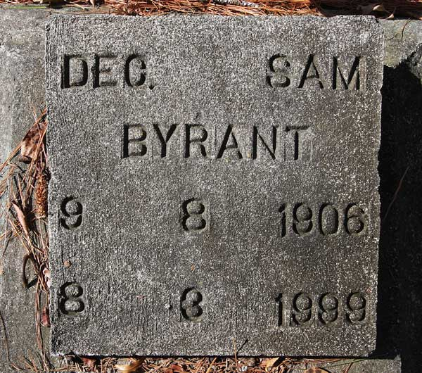 Dec. Sam Bryant Gravestone Photo
