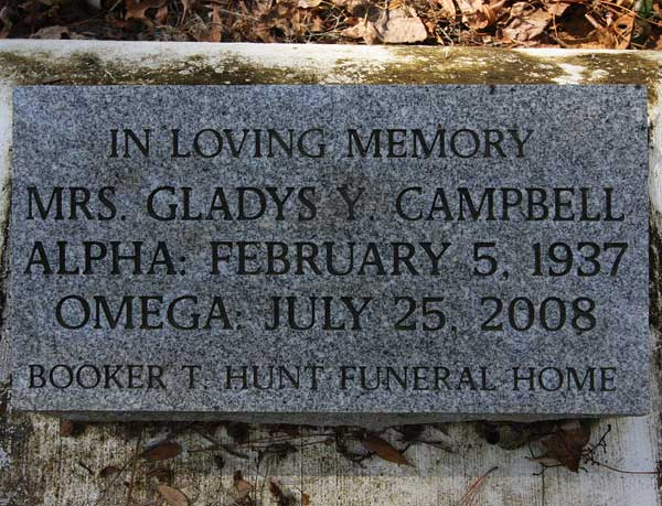 Mrs. Gladys Y. Campbell Gravestone Photo