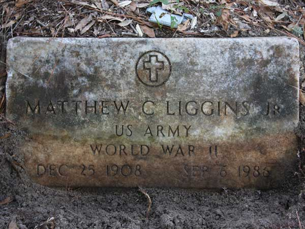 Matthew C. Liggins Gravestone Photo