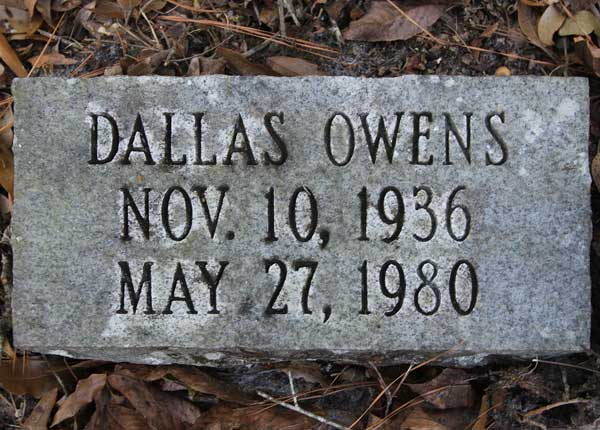 Dallas Owens Gravestone Photo