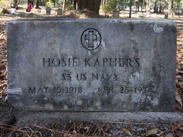 Hosie Kaphers Gravestone Photo