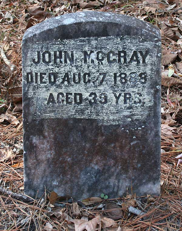 John McCray Gravestone Photo
