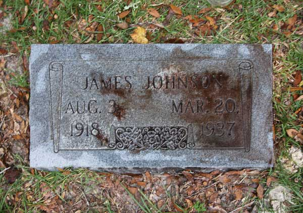 James Johnson Gravestone Photo