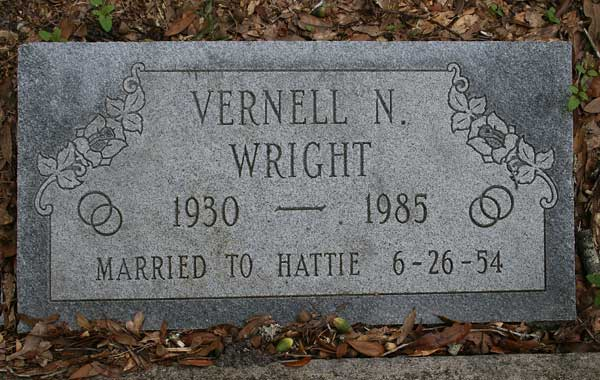 Vernell N. Wright Gravestone Photo