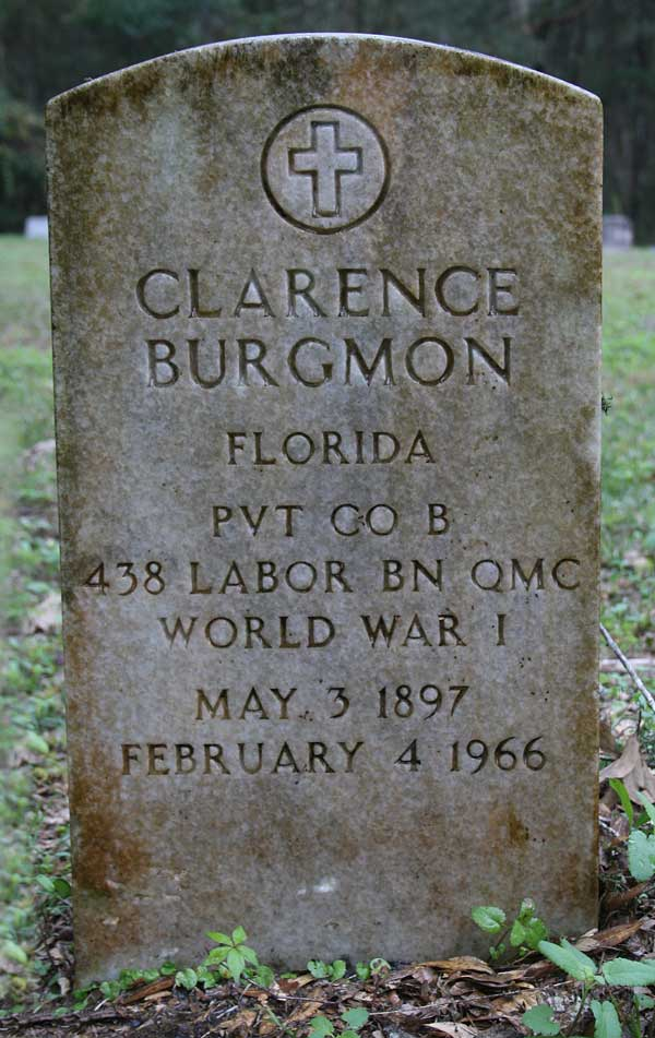 Clarence Burgmon Gravestone Photo
