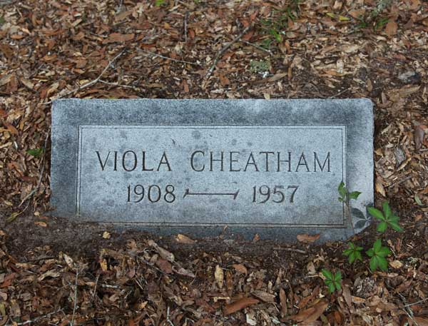 Viola Cheatham Gravestone Photo