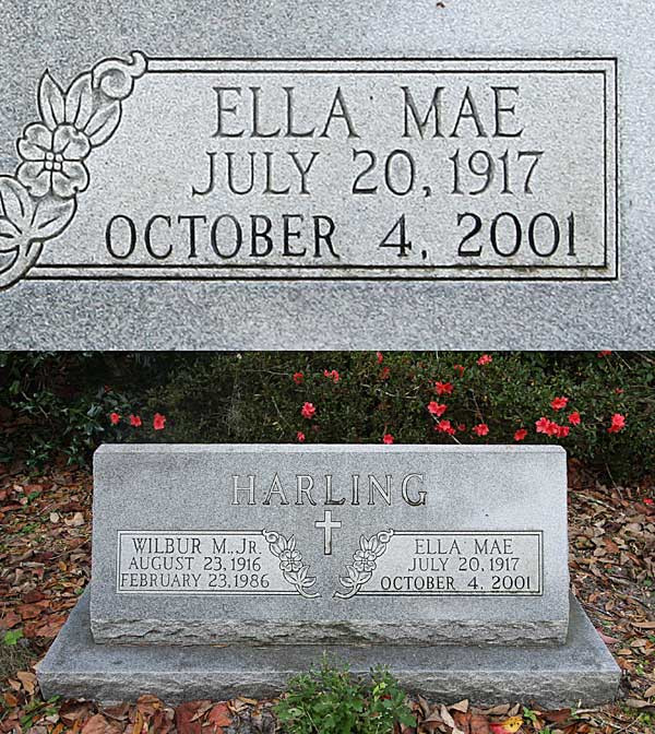 Ella Mae Harling Gravestone Photo