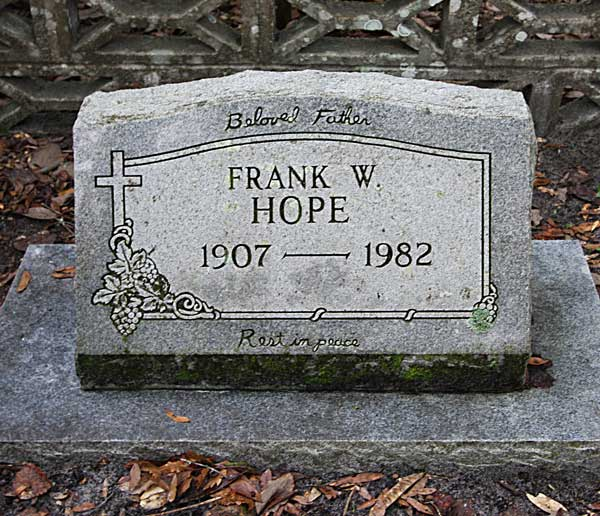 Frank W. Hope Gravestone Photo