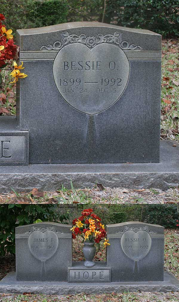 Bessie O. Hope Gravestone Photo