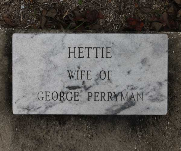 Hettie Perryman Gravestone Photo