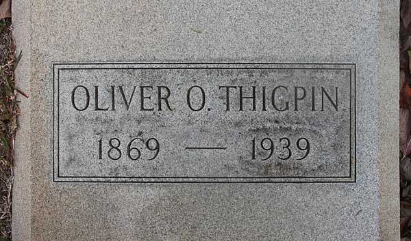 Oliver O. Thigpin Gravestone Photo