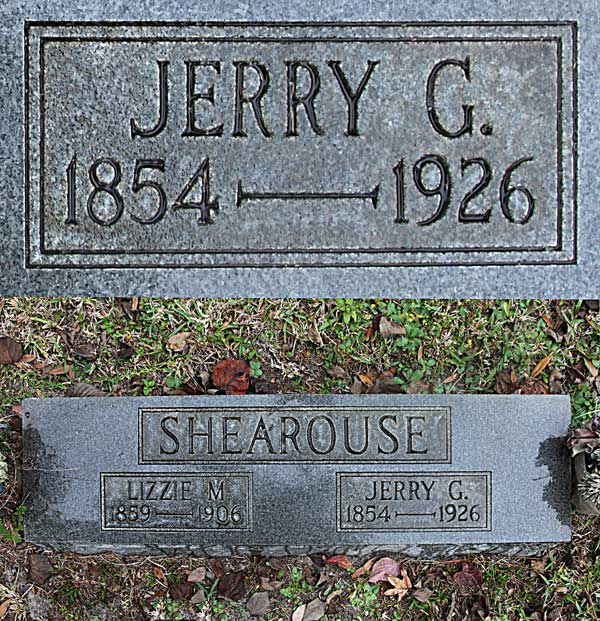 Jerry G. Shearouse Gravestone Photo