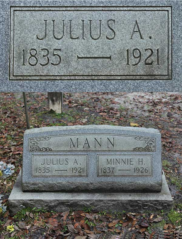 Julius A. Mann Gravestone Photo