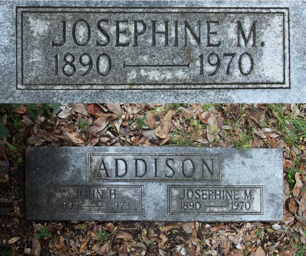 Josephine M. Addison Gravestone Photo