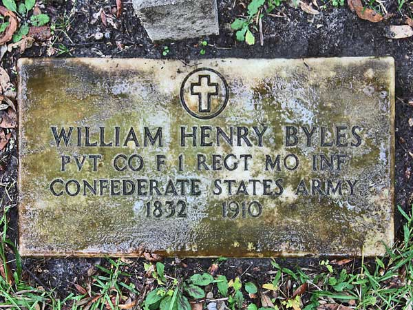 William Henry Byles Gravestone Photo