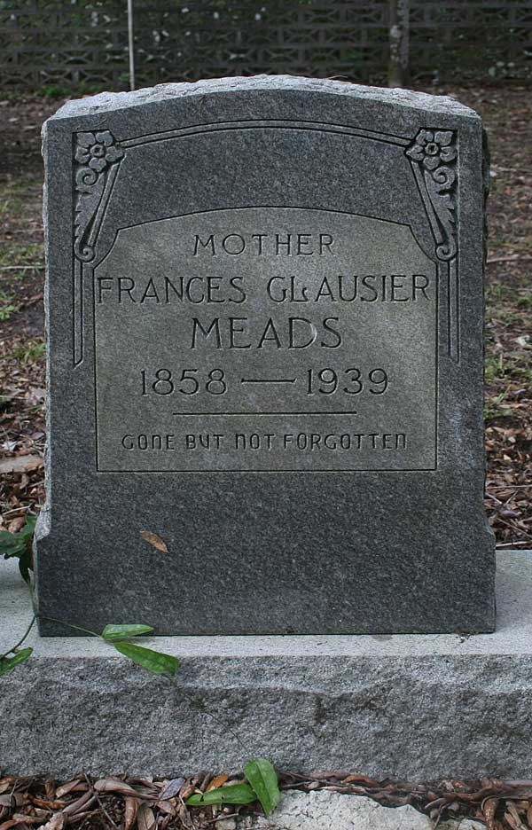 Frances Glausier Meads Gravestone Photo