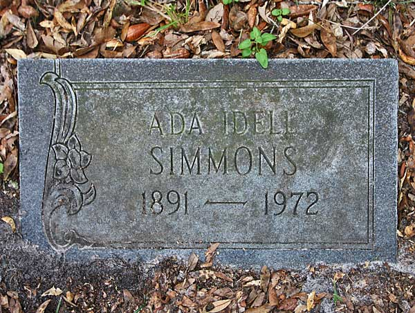 Ada Idell Simmons Gravestone Photo