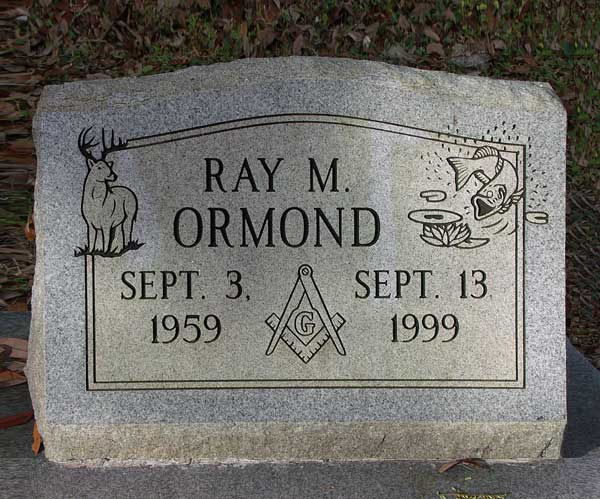 Ray M. Ormond Gravestone Photo