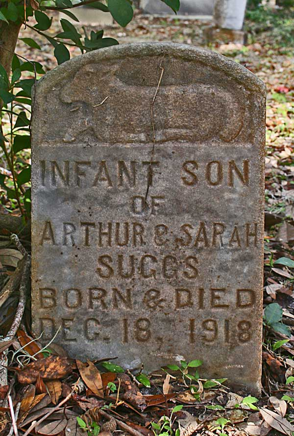 Infant Son Suggs Gravestone Photo