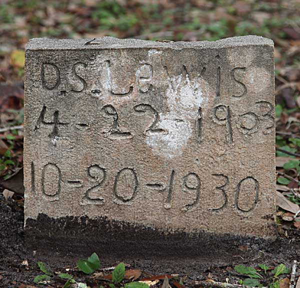 D.S. Lewis Gravestone Photo