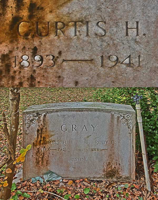 Curtis H. Gray Gravestone Photo