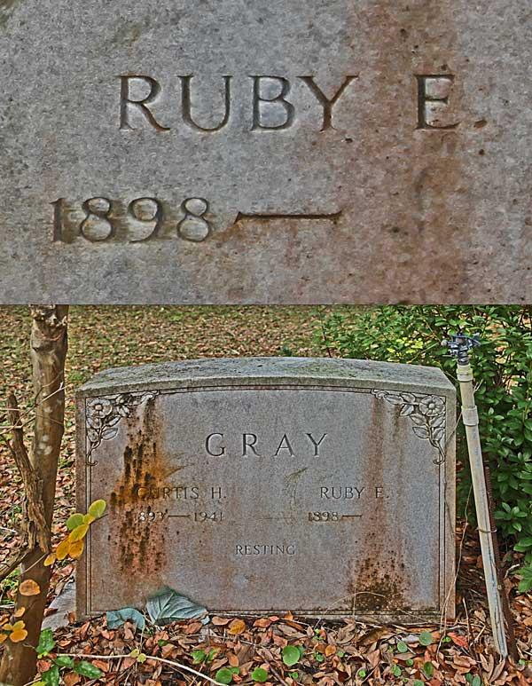Ruby E. Gray Gravestone Photo