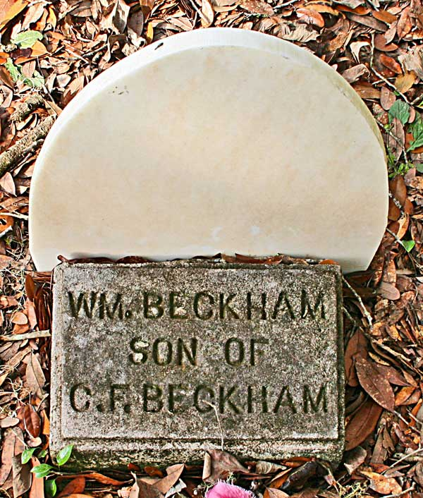 Wm. Beckham Gravestone Photo