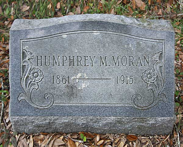 Humphrey M. Moran Gravestone Photo