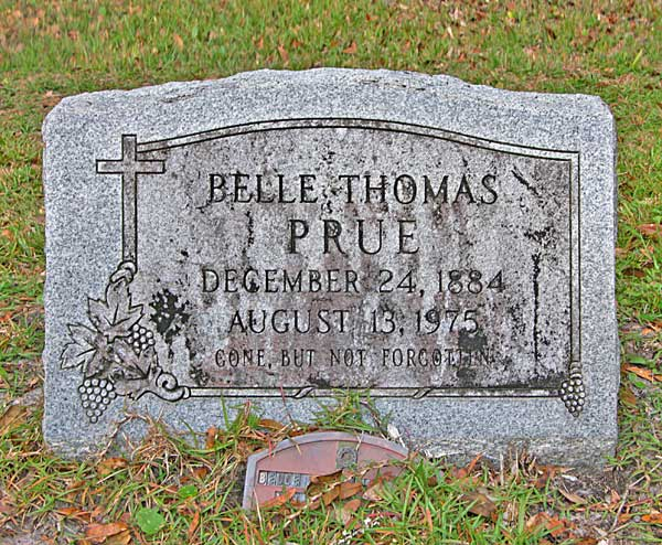 Bell Thomas Prue Gravestone Photo