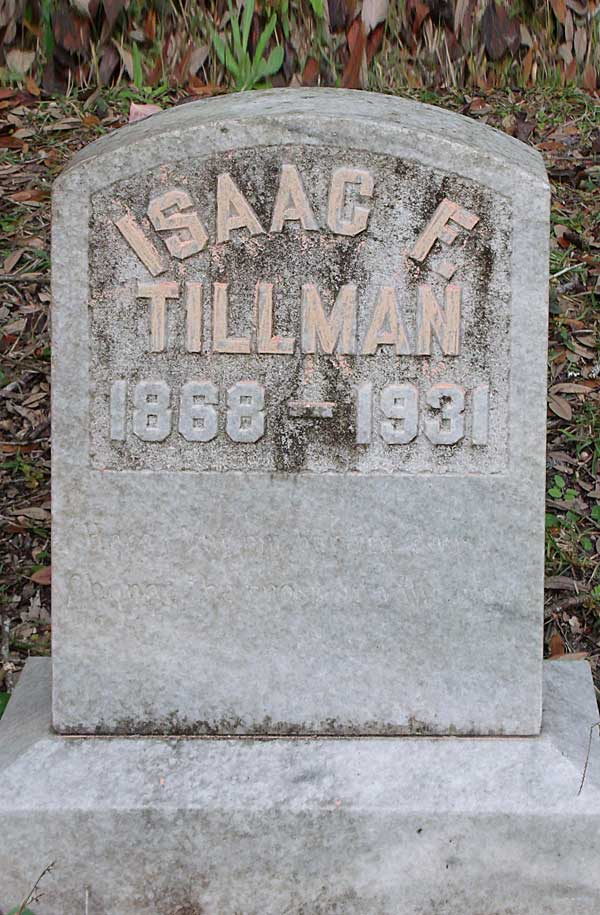 Isaac F. Tillman Gravestone Photo