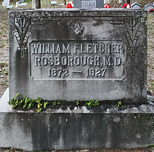 William Fletcher Rosborough Gravestone Photo