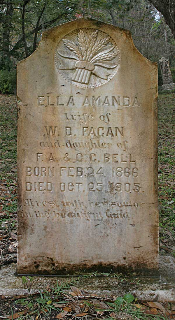 Ella Amanda Fagan Gravestone Photo