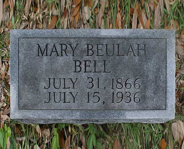Mary Beulah Bell Gravestone Photo